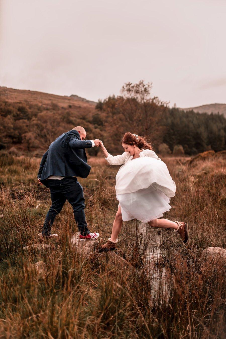 Intimate Romantic Moutain Elopement Wedding in Gougane Barra Cork Ireland
